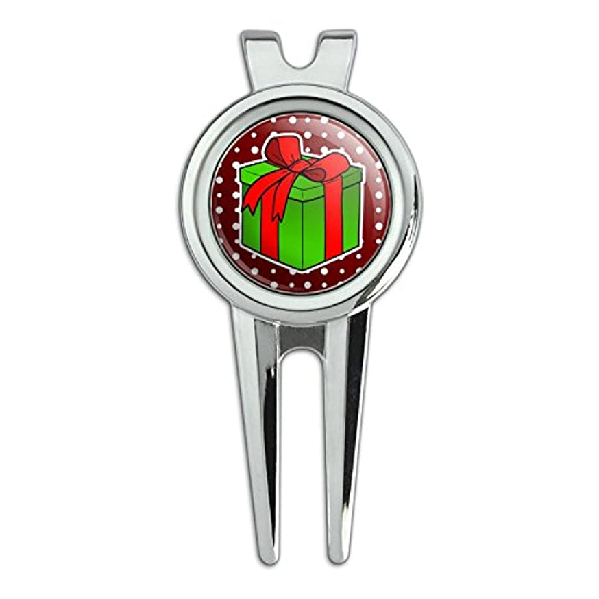 毎日レーザ区プレゼントギフトクリスマスホリデーゴルフディボットの修復ツールとボールマーカー