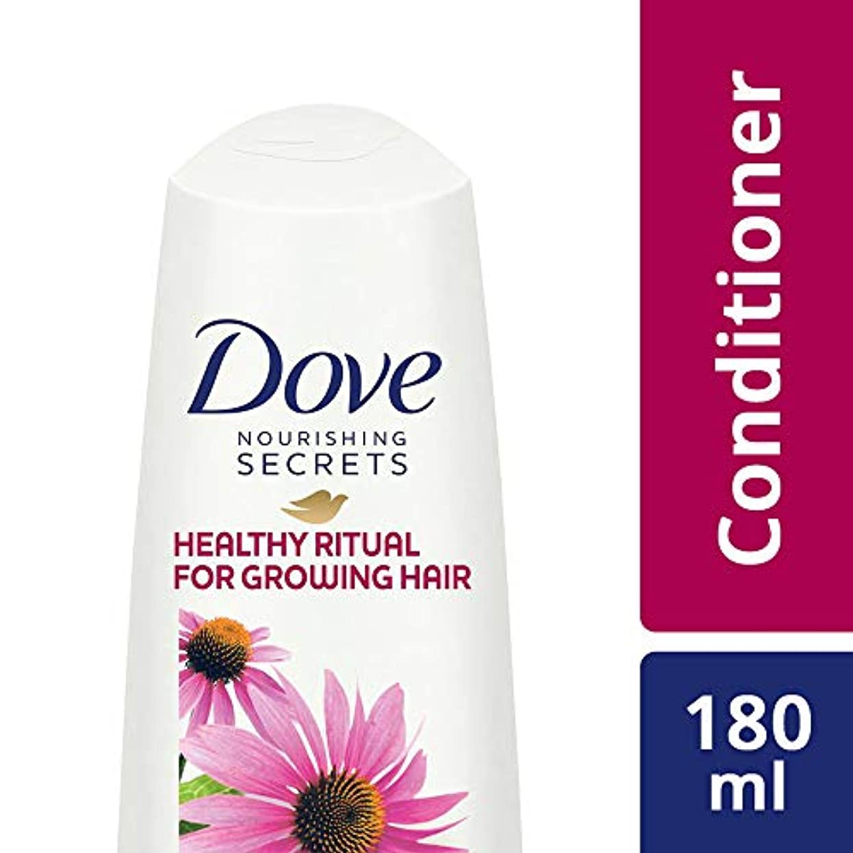 匿名リビジョン天使Dove Healthy Ritual for Growing Hair Conditioner, 180 ml (Coneflower, Oil and White Tea)