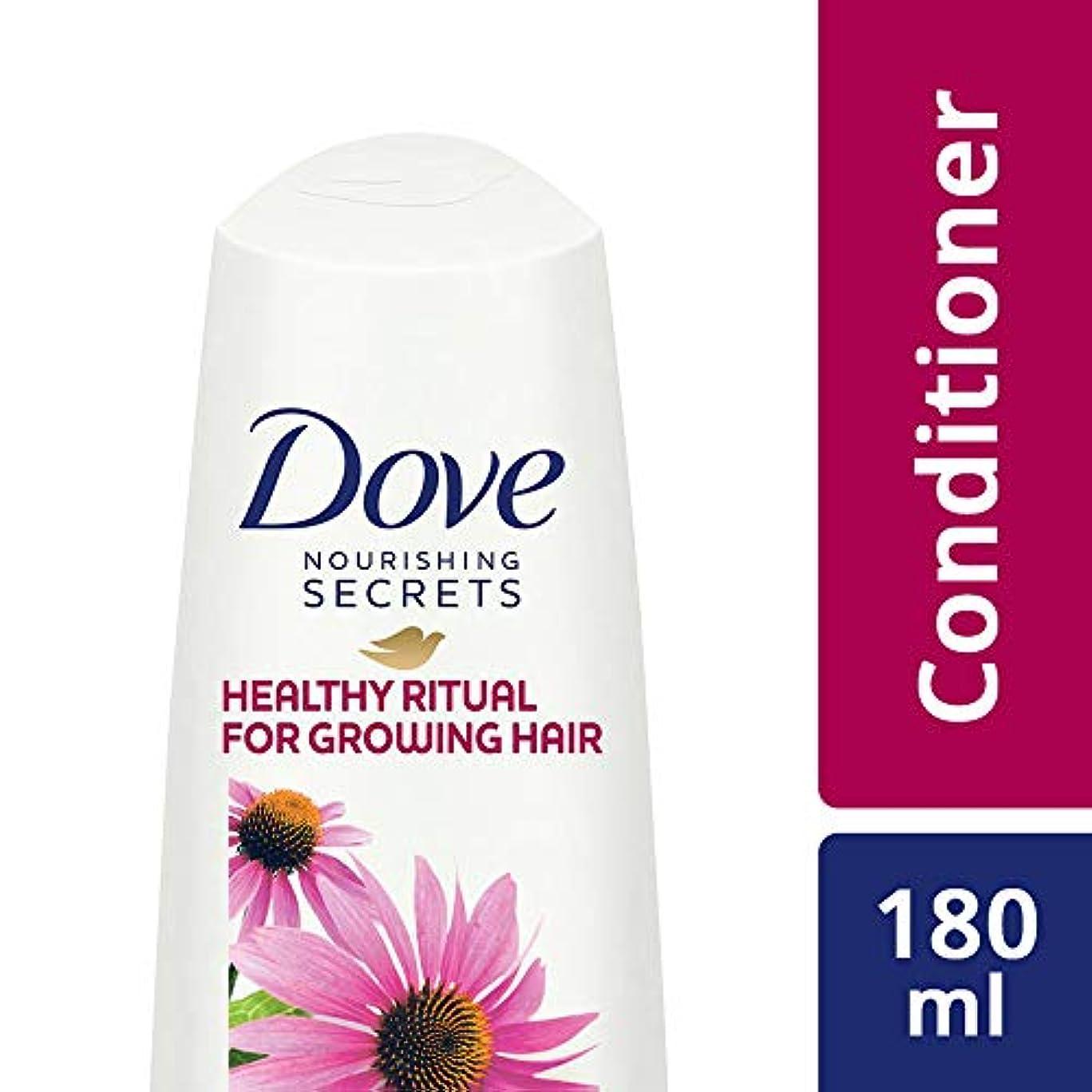 雨の相対的ドライブDove Healthy Ritual for Growing Hair Conditioner, 180 ml (Coneflower, Oil and White Tea)