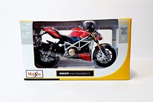 Maisto Ducati StreetFighter S 1:12 Scale Diecast Motorcycle Model NEW by Maisto [並行輸入品]