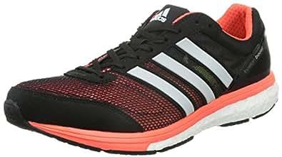 [アディダス] adidas ランニングシューズ adizero Boston Boost B33482 B33482 (ホワイト/ブラック/ソーラーイエロー/25.0)