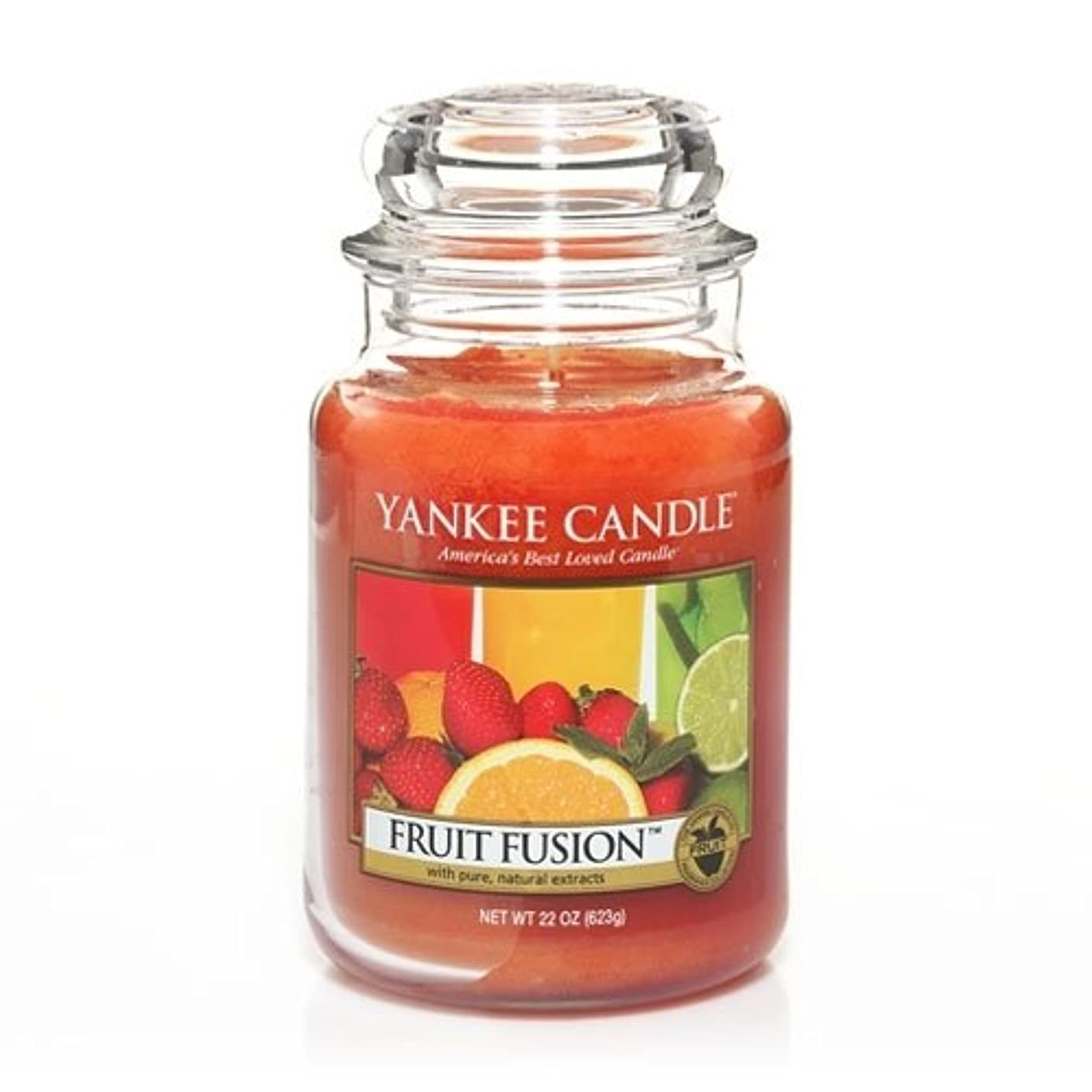 疑問に思う朝食を食べるステレオタイプYankee Candle Fruit Fusion、フルーツ香り Large Jar Candles オレンジ 1230712-YC