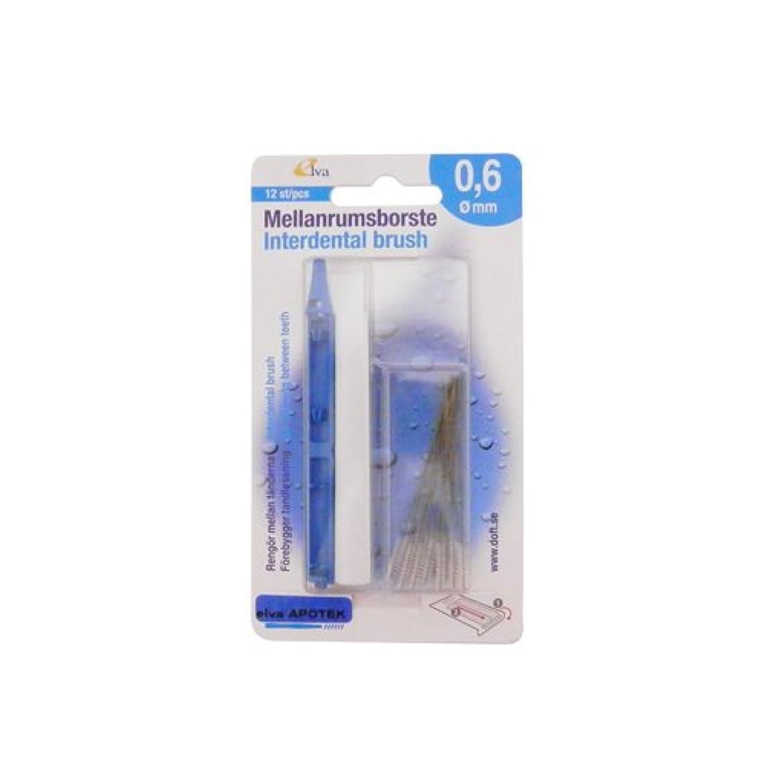 信頼できるあなたが良くなります地雷原エルバ アポテック 歯間ブラシ ELVA APOTEK 12本入 ライトブルー 0.6mm