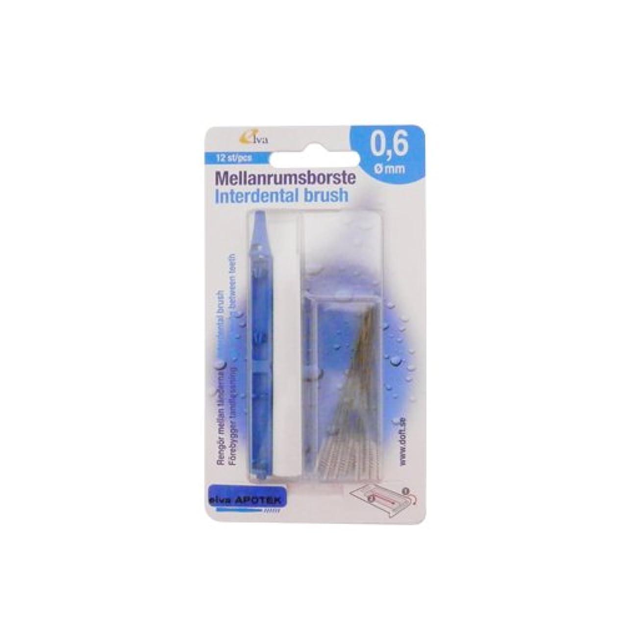 郊外ちなみにとてもエルバ アポテック 歯間ブラシ ELVA APOTEK 12本入 ライトブルー 0.6mm