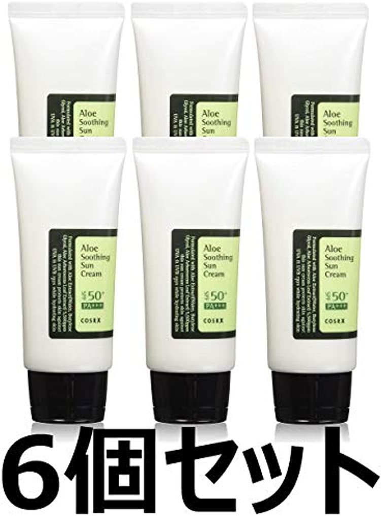 塩辛い出血提供(6 Pack) COSRX Aloe Soothing Sun Cream (並行輸入品)