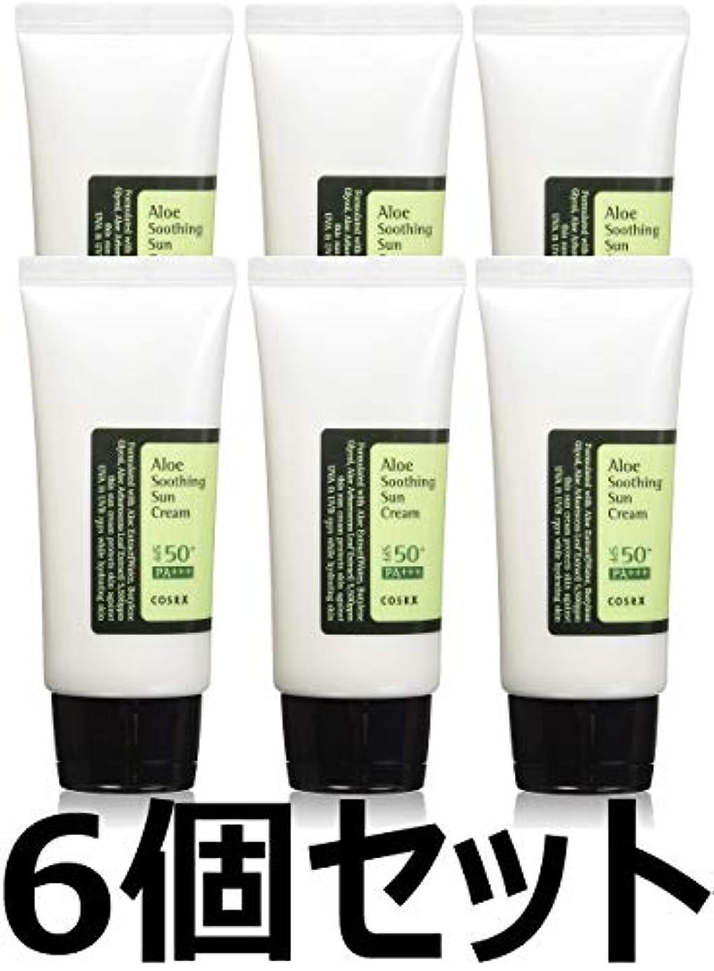 孤独船尾なめる(6 Pack) COSRX Aloe Soothing Sun Cream (並行輸入品)