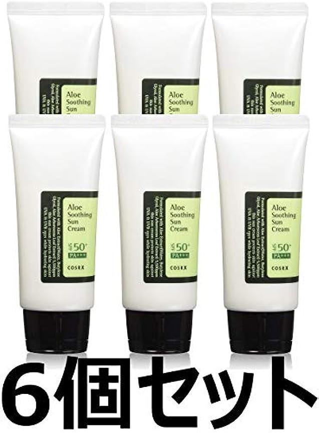 受け継ぐ現象排除する(6 Pack) COSRX Aloe Soothing Sun Cream (並行輸入品)