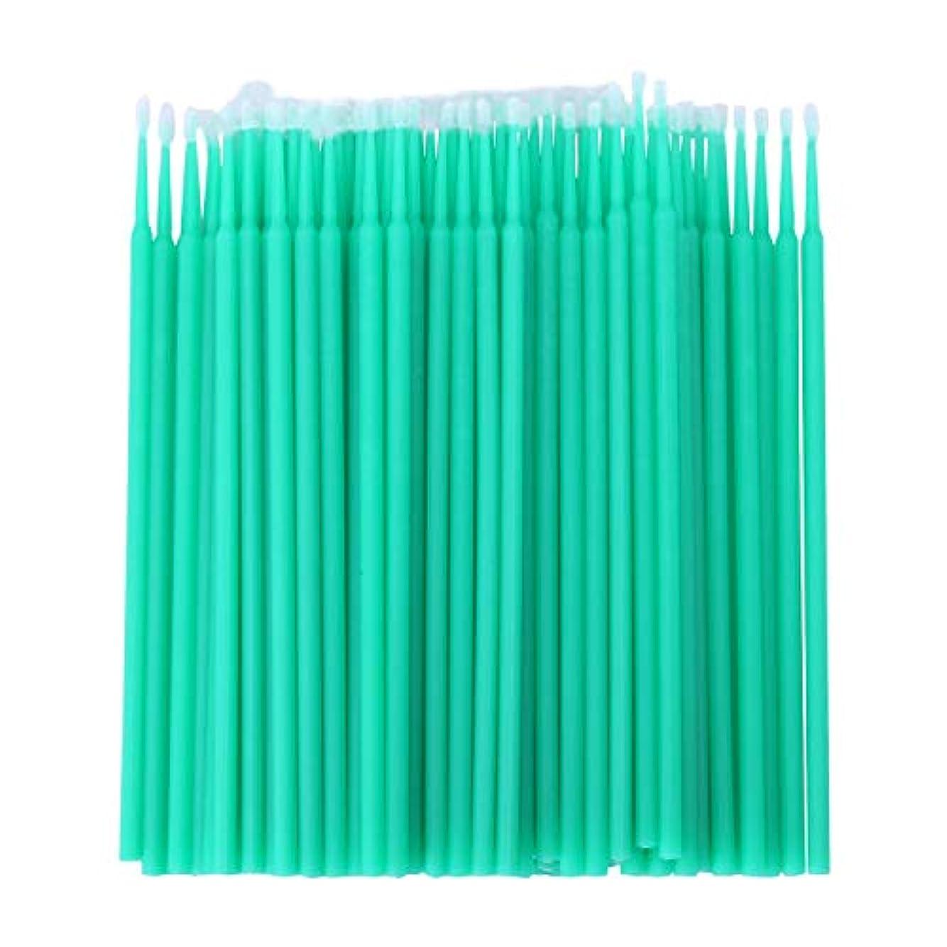 思春期スリップ機密CUHAWUDBA 100個 歯科用マイクロブラシ 使い捨て材料 歯用アプリケーター ミディアムファイン(ライトグリーン)