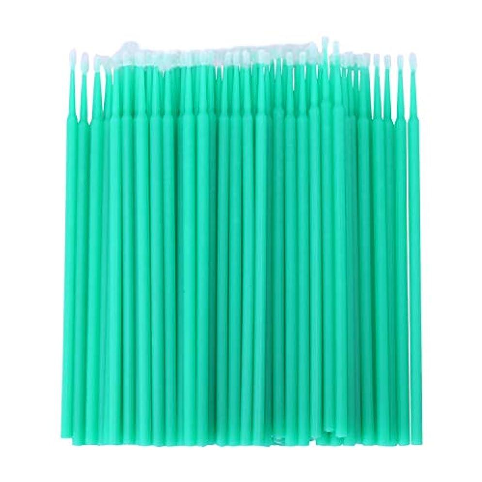 元気な飼料雑草CUHAWUDBA 100個 歯科用マイクロブラシ 使い捨て材料 歯用アプリケーター ミディアムファイン(ライトグリーン)