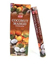 HEM(ヘム)社 ココナッツ&マンゴー香 スティック COCONUT&MANGO 6箱セット