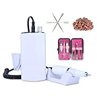 Rechargeable Nail Drill Machine Cordless Portable Manicure Set (White) [並行輸入品]