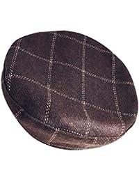 ベレー帽 レディース ウール フェルト チェック フリーサイズ 秋冬 帽子 小顔効果 調節可能