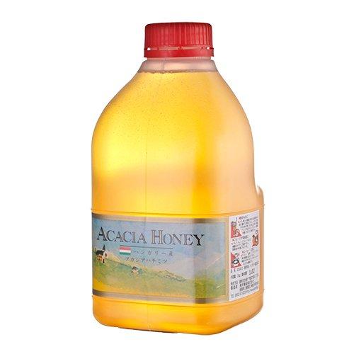 [熊手のはちみつ] ハンガリー産 アカシア蜂蜜 (ポリ 2kg) 100%純粋 ハチミツ 蜂蜜
