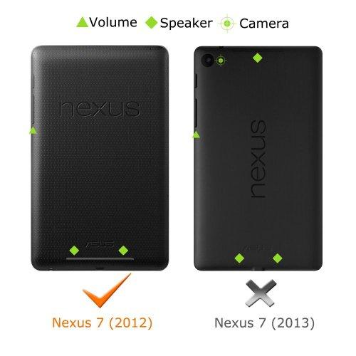 Google Nexus 7 2012ケース - ATiC Google Nexus 7 2012(第一世代)タブレット専用開閉式三つ折薄型スタンドケース, BLACK