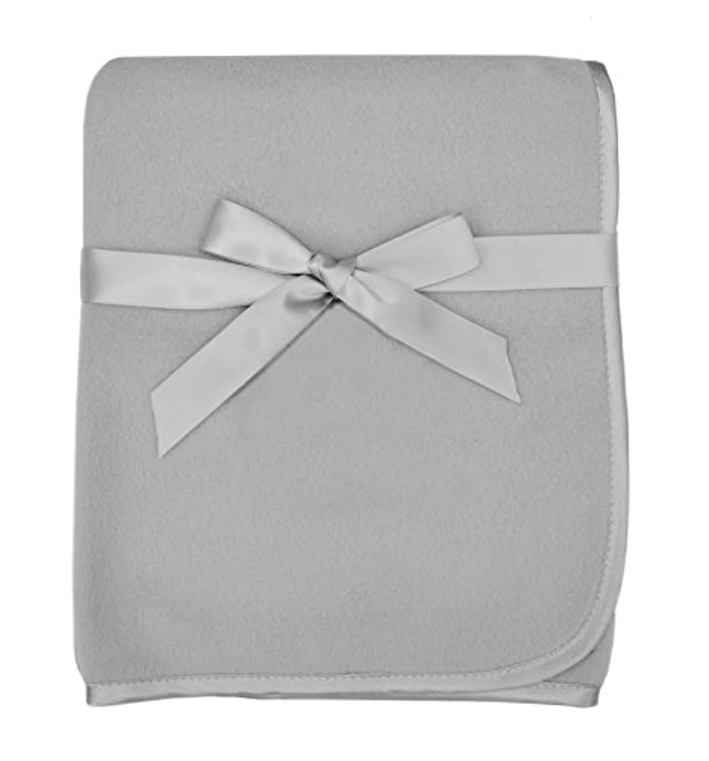 TL Care Fleece Blanket with Satin Trim, Gray, 3/8 by TL Care