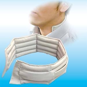濡れない、巻かない、装着タイプの冷却スカーフ【ビズクールM】ライトグレー