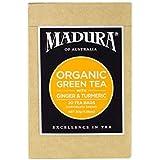 Madura Organic Green, Ginger and Tumeric 20 Enveloped Tea Bags, 1 x 30 g