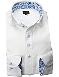 RSD178-004 (スタイルワークス) メンズ長袖ワイシャツ カッタウェイ ワイドカラー | 白