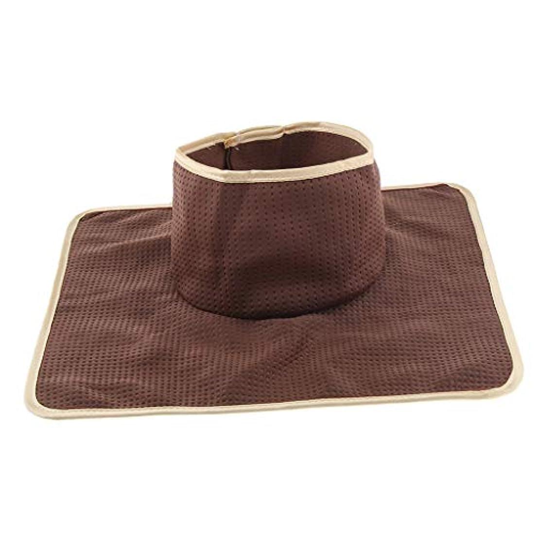 赤道比類のない弓マッサージベッド サロンテーブル シート パッド 頭の穴 洗濯可能 約35×35cm 全3色 - コーヒー