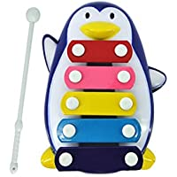 Hemlock 赤ちゃん用音楽玩具 知恵の発育玩具 子供 5ノート Xylophone 音楽玩具, Free size, ブルー ldc126