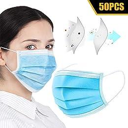 マスク 使い捨てマスク 不織布マスク 立体マスク 風邪マスク 折りたたみ プリーツタイプ 3層 保護 吊り耳 50枚入 男女共用