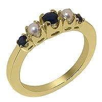 英国製(イギリス製) K9 イエローゴールド 天然 サファイヤパール レディース リング 指輪 各種 サイズ あり