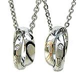 ボンズ[BONDS] ステンレス ダブルリングネックレス REAL HEART ペアネックレス 2本セット BN-2511