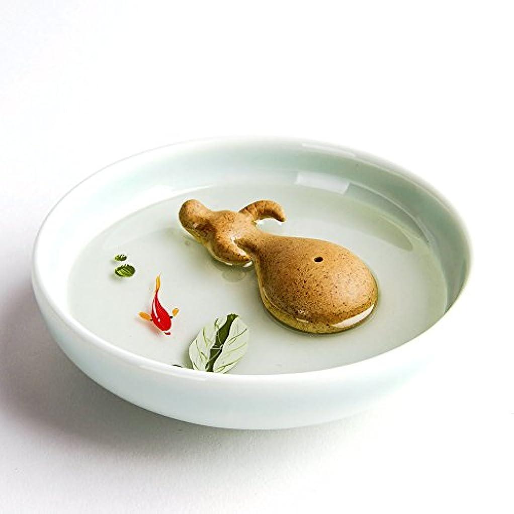 添加剤未使用カエルお香立て お香たて 香の器 お香を焚いて 香皿,陶磁器、白