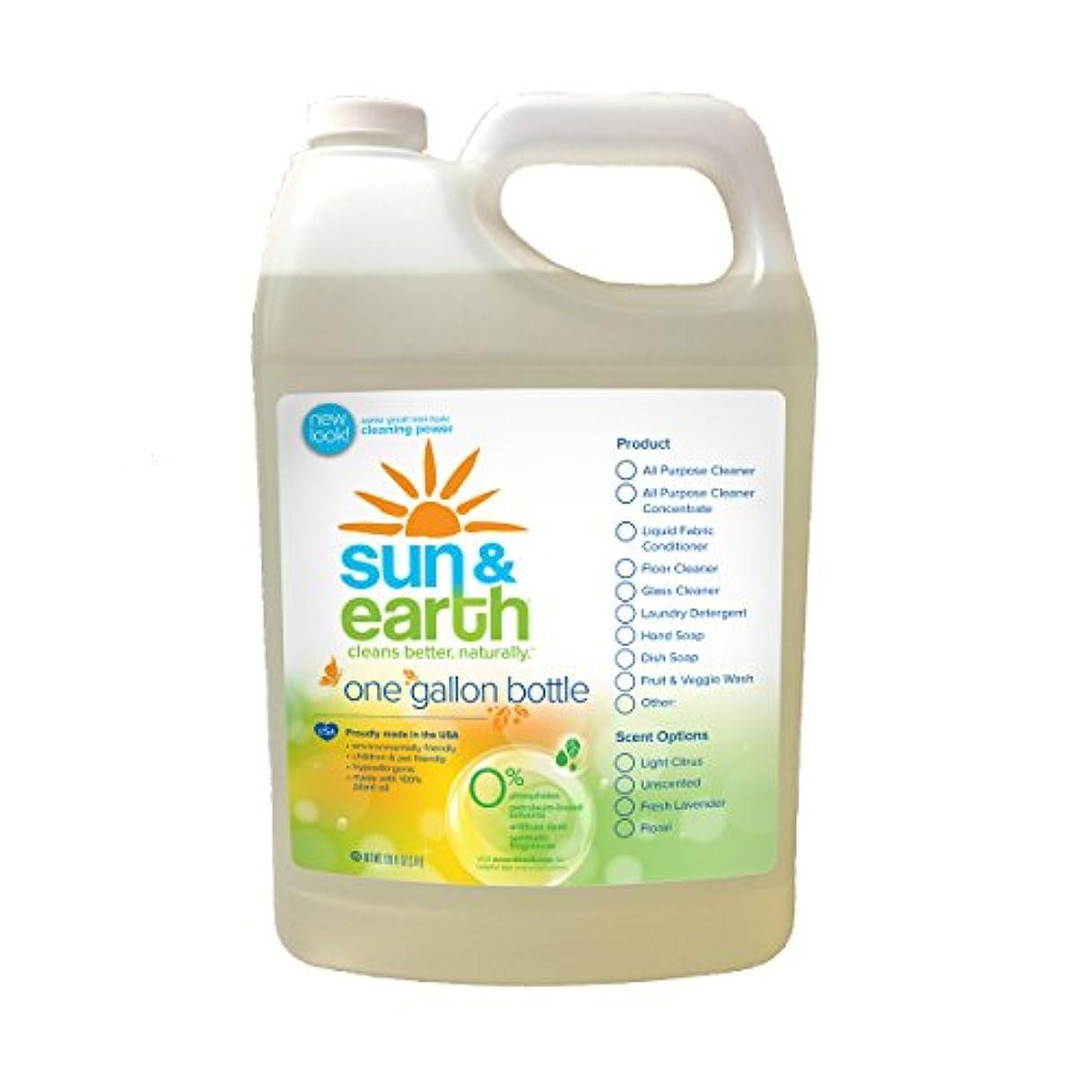 受粉するライバルビジュアルSun & Earth Extra Concentrated Natural Hand Soap, Fresh Lavender, 128 Ounce (Pack of 2) by Sun & Earth