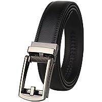 Dante men's Ratchet Click Slide Dress Belt with Genuine Leather,Trim to Fit(32314)