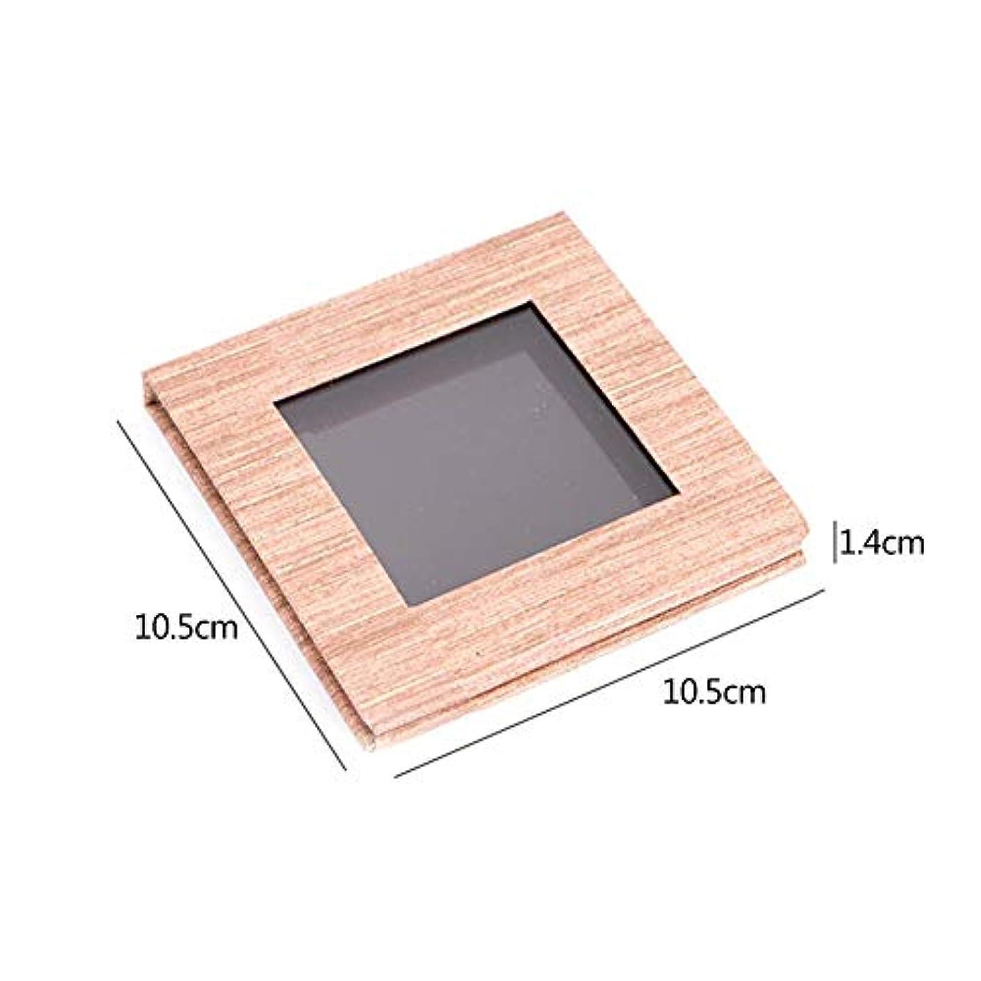 タービンシンボルアクティブアイシャドウの口紅のための木の穀物の磁気パレットDIYの取り替え可能な構造パレット