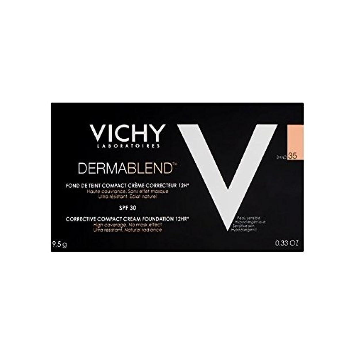 ビデオ大胆欺Vichy Dermablend Corrective Compact Cream Foundation Sand 35 (Pack of 6) - ヴィシー是正コンパクトクリームファンデーション砂35 x6 [並行輸入品]