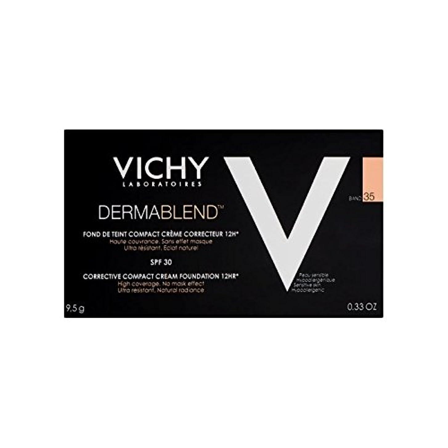 化学薬品首謀者反対するヴィシー是正コンパクトクリームファンデーション砂35 x4 - Vichy Dermablend Corrective Compact Cream Foundation Sand 35 (Pack of 4) [並行輸入品]