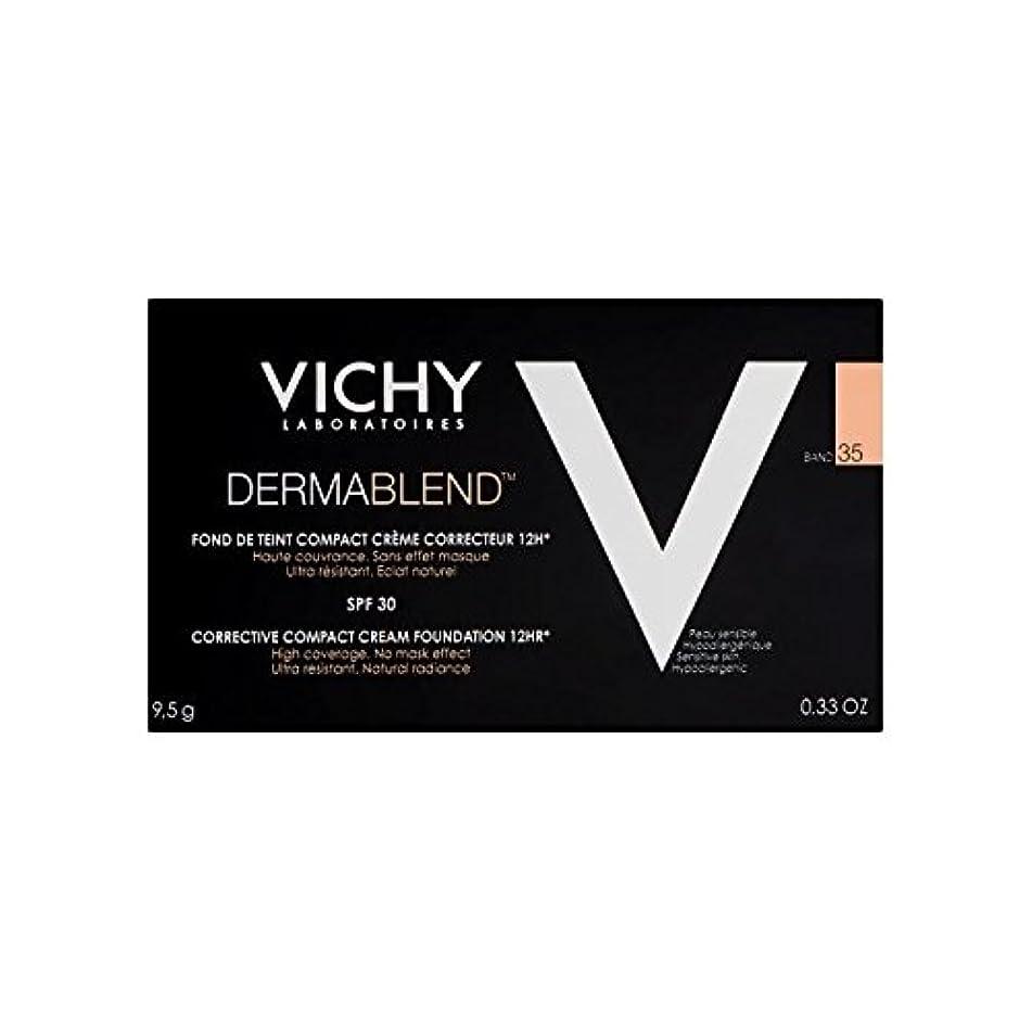評論家限界気難しいヴィシー是正コンパクトクリームファンデーション砂35 x2 - Vichy Dermablend Corrective Compact Cream Foundation Sand 35 (Pack of 2) [並行輸入品]