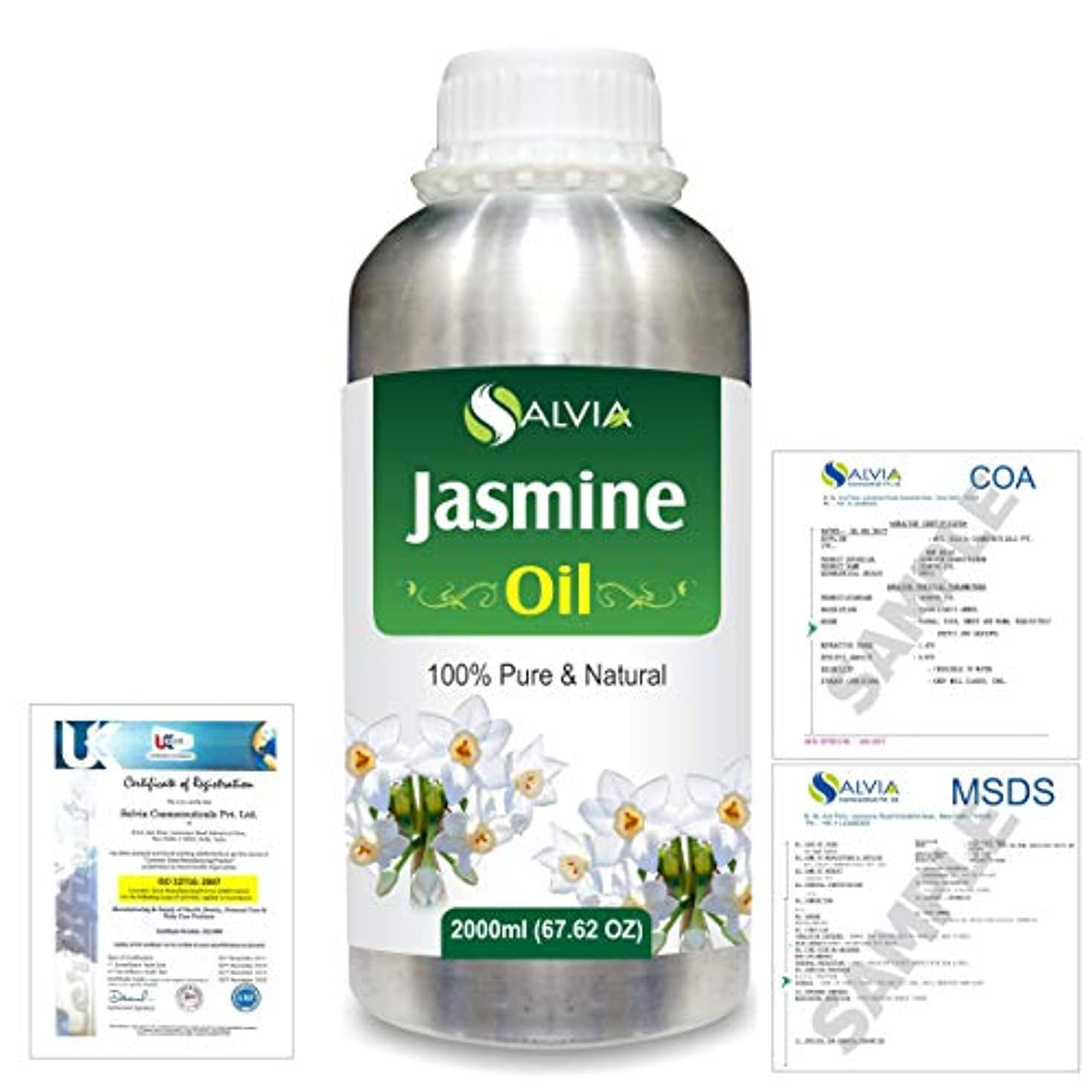 ロードブロッキングアクセシブル細いJasmine (Jasminum Grandiflorum) 100% Natural Pure Essential Oil 2000ml/67 fl.oz.