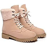 UGG AUSTRALIAN SHEPHERD Marten Chunky Fashion Water Resistant Lace Up Wool Interior Women's Martin Boots Mina