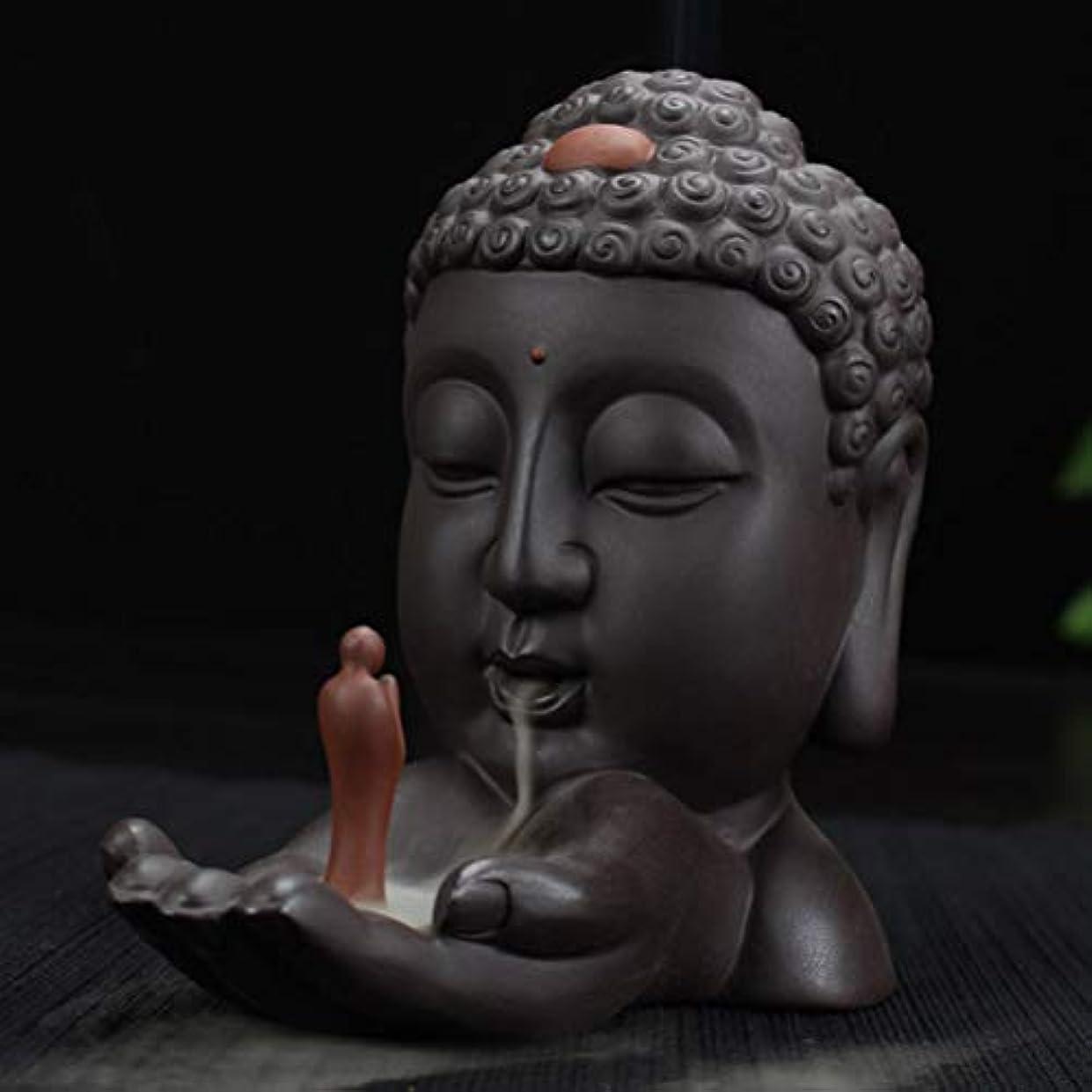 黙認する雄弁診断する逆流香バーナークリエイティブホームインテリアセラミック仏香ホルダー仏教香炉