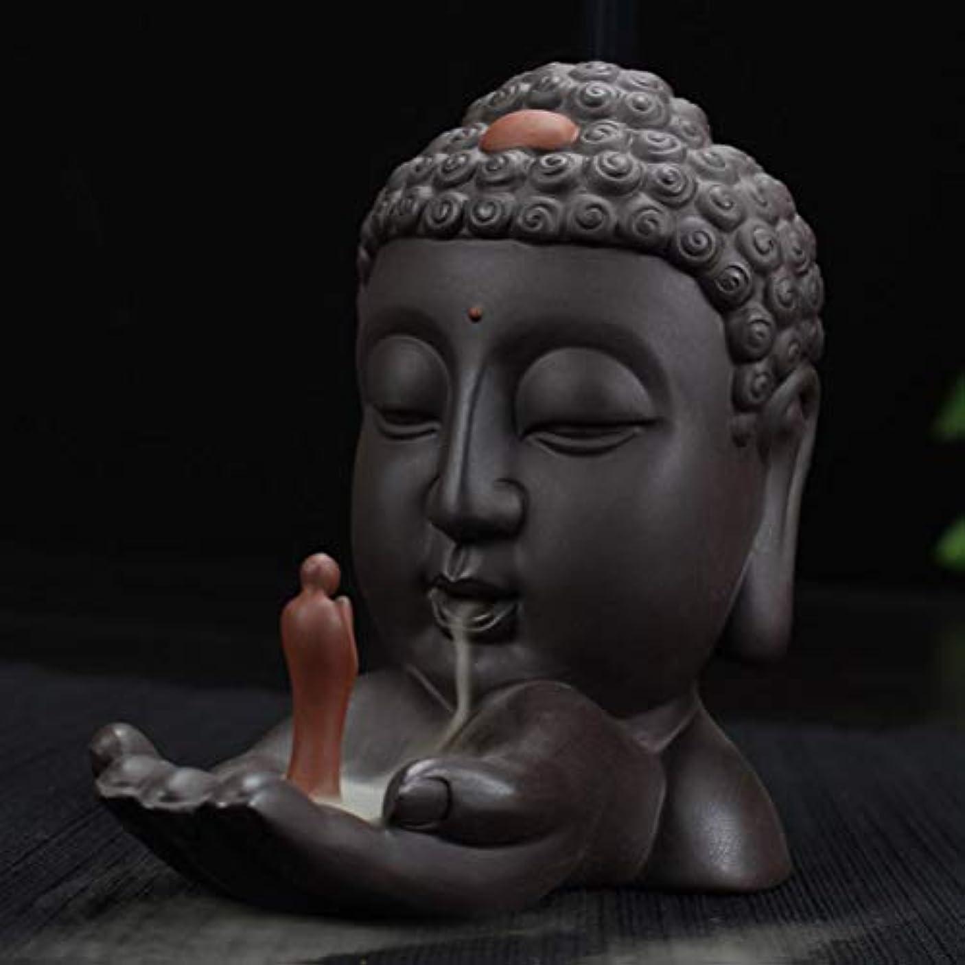 扇動もっともらしいストライプ逆流香バーナークリエイティブホームインテリアセラミック仏香ホルダー仏教香炉