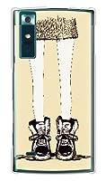 携帯電話taro au URBANO V02 KYV34専用 ケース カバー (女の子の脚/イエロー) KYOCERA URBANO_V02-OCA2-0494
