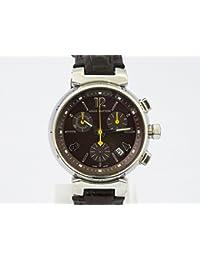 ルイ・ヴィトン LOUIS VUITTON タンブールクロノグラフ Q1321 ブラウン文字盤 メンズ 腕時計 【中古】