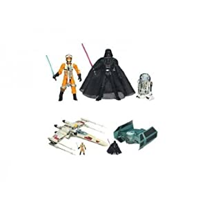 Star Wars (スターウォーズ) Trench Run Luke Skywalkers X-wing and Darth Vaders Tie Advance Luxury アクションフィギュア Set(並行輸入)