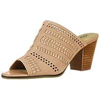 Bella Vita Womens Koraline Slide Sandal on Block Heel