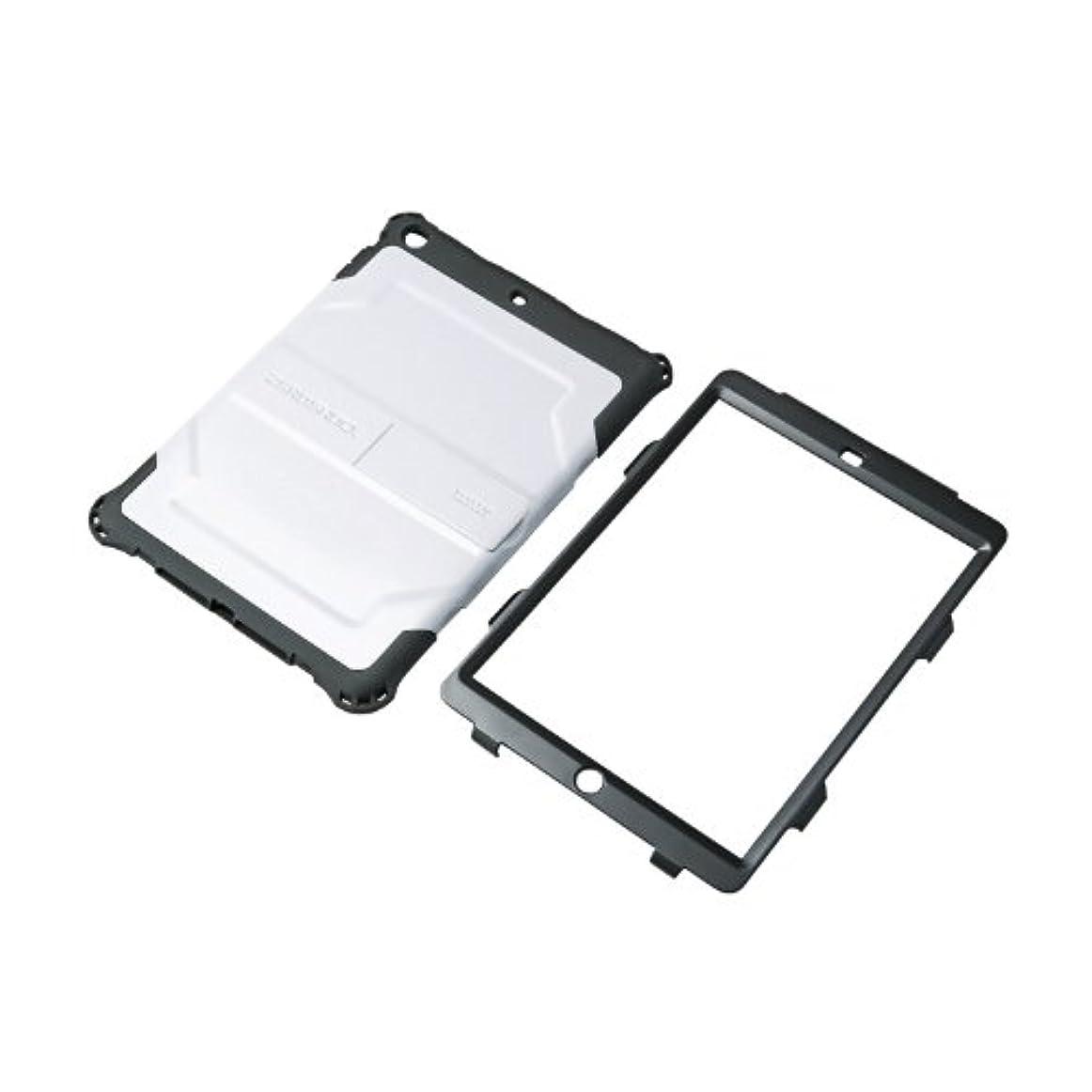 導体対応無能【2014年モデル】ELECOM iPad Air 耐衝撃ハイブリッドケース ホワイト TB-A13HVWH