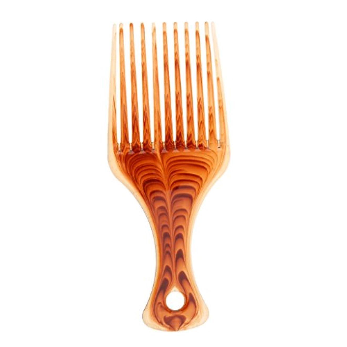 メニュー幻想長さヘアブラシ コーム アフロ 髪ピック 櫛 かつら編み プラスチック製