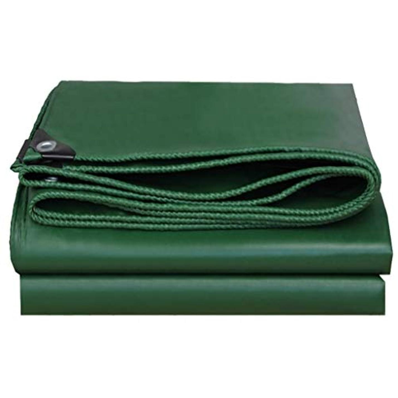 洪水教義暗黙ZX タープ 防水屋外キャンプガーデン防水シート屋外ポンチョ堅牢厚さ0.40ミリメートル550g /㎡ テント アウトドア (Color : Green, Size : 3x3m)