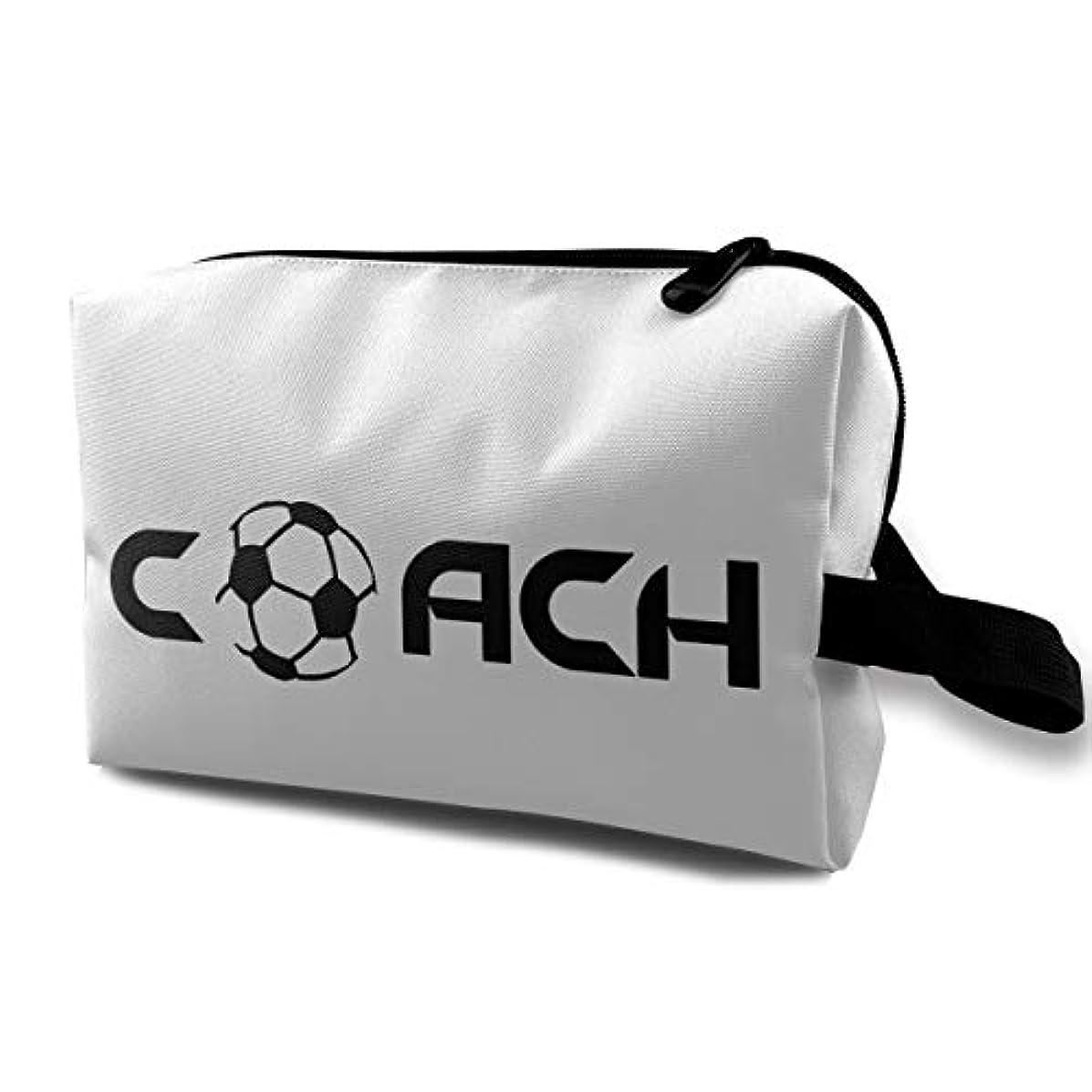 ファイバまたスラムMEClOUD コーチ サッカー 化粧ポーチ メイクポーチ コスメバッグ 収納 雑貨 小物入れ 旅行用