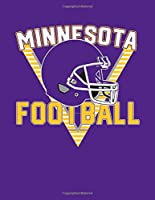 Minnesota Football 100 Page Wide Ruled Notebook for Students: Cool MN Class Journal