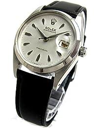 [ロレックス]ROLEX 腕時計 6494 オイスターデイト 楔型文字盤 赤黒カレンダー アンティーク メンズ 中古