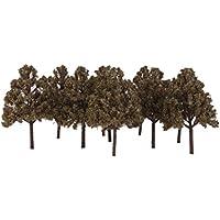 SONONIA 1/100 10枚 ヒノキ木のモデル 鉄道風景 シーン模型 アクセサリー プレゼント 緑 ブラウン