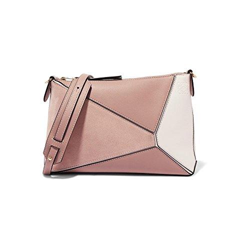 (ロエベ) Loewe レディース バッグ ショルダーバッグ Puzzle mini textured-leather and suede shoulder bag [並行輸入品]